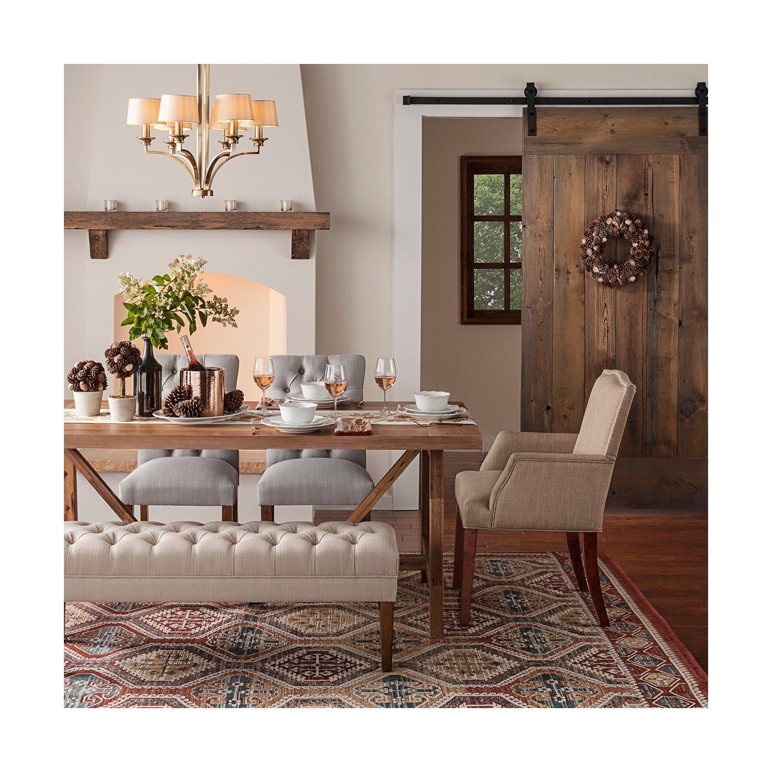 Wheaton Farmhouse Trestle Dining Table Threshold Farmhouse