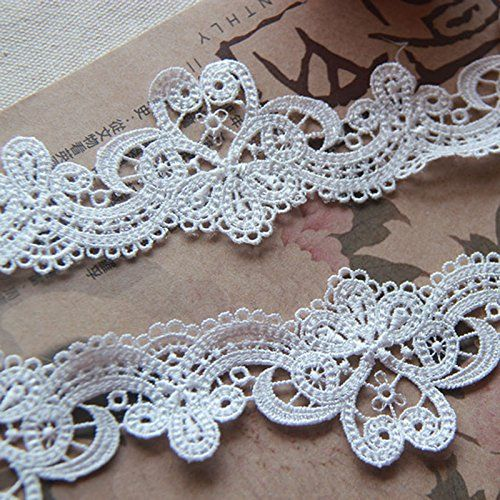 White 5 Yards Grace French Venise Lace Collar Edge Fabric Ribbon Garter Lace Craft Home Party Decorations 2 Inches Wide -- Check this awesome product by going to the link at the image.