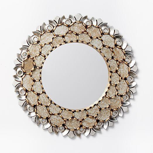 Peruvian Mirror Medium West Elm Espejos Decoracion De Unas