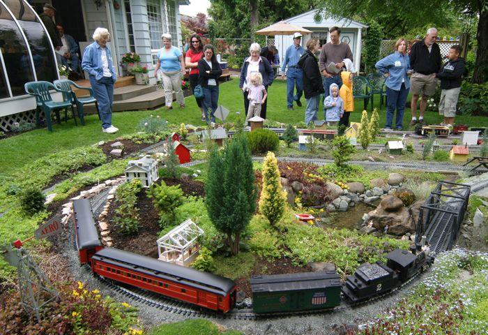 Portland Ground Model Railroad Gardens Of Pdx 1 In Series Garden Railroad Garden Trains Model Trains