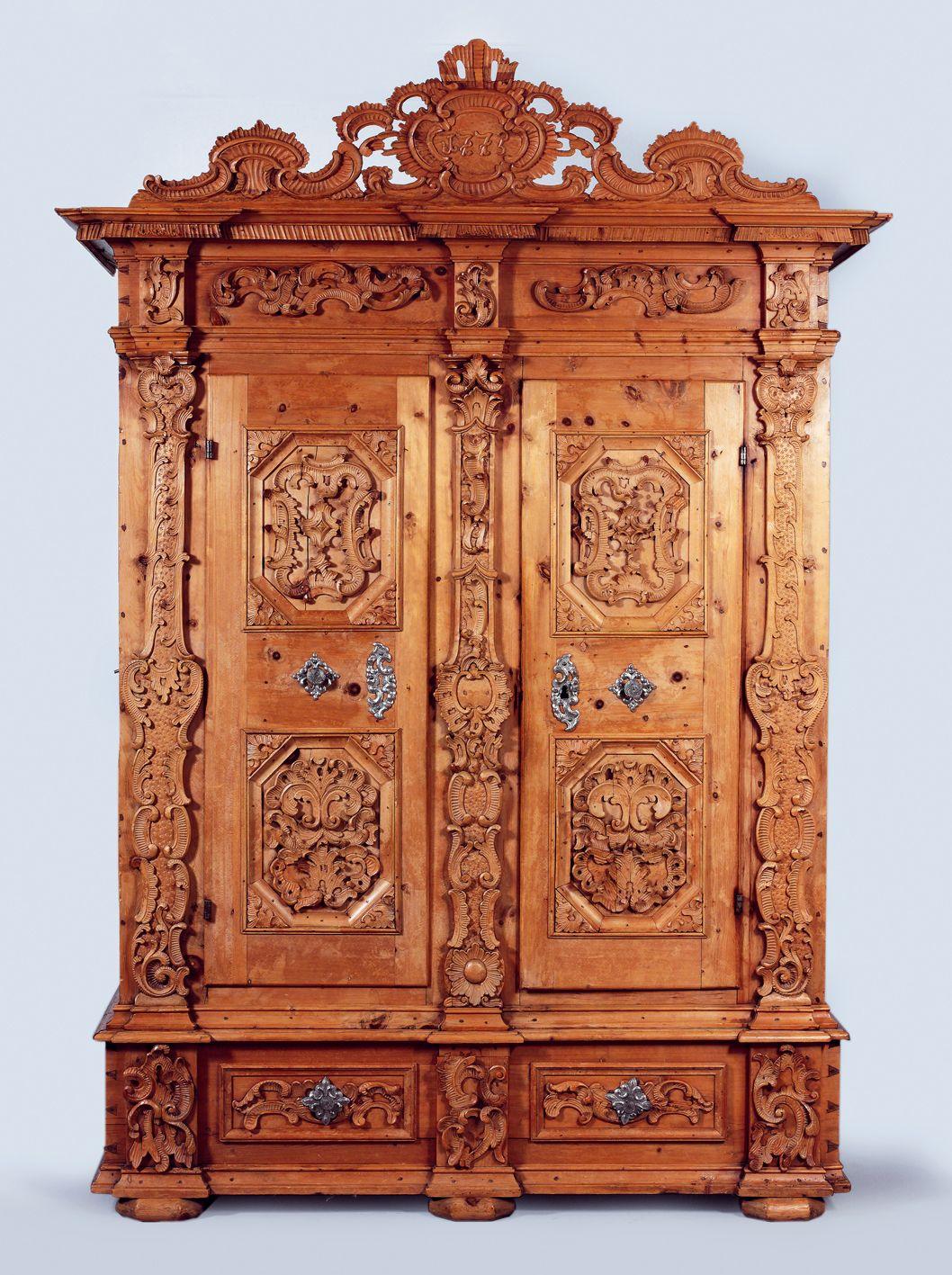 Splendid Museum Condition Pinzgau Rustic Coffer Dated 1775 Alte Schranke Angewandte Kunst Kasten