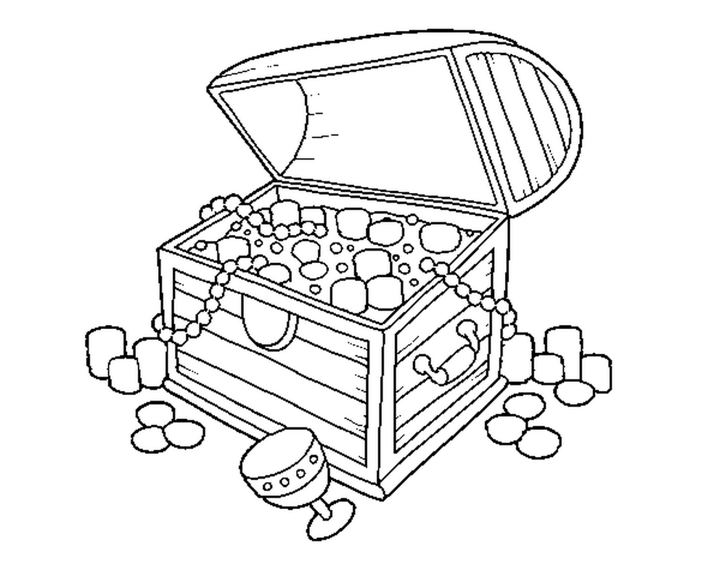 Download Or Print This Amazing Coloring Page Open Treasure Chest Coloring Page Coloring Pages Elsa Coloring Pages Treasure Chest