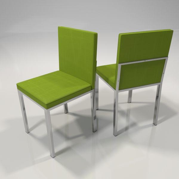 sillas color verde para cocina o comedor con patas en