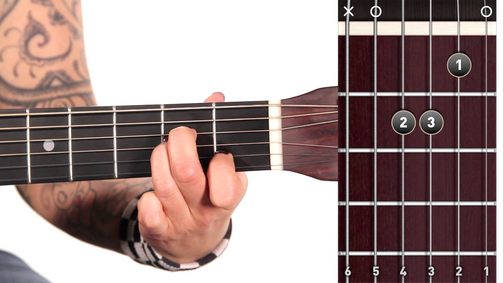Learn Guitar How To Play An A Minor Chord Guitar Pinterest