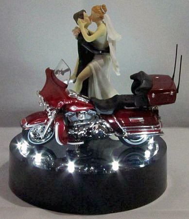 Harley Davidson Wedding Cake Topper 214 Lit Wedding Fairytale Dreams Wedding Cake Toppers Motorcycle Motorcycle Wedding Wedding Cake Toppers