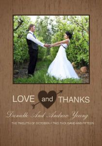 Mixbook Rustic Heart Wedding Thank You Cards These Would Be Perfect For After Our Reception
