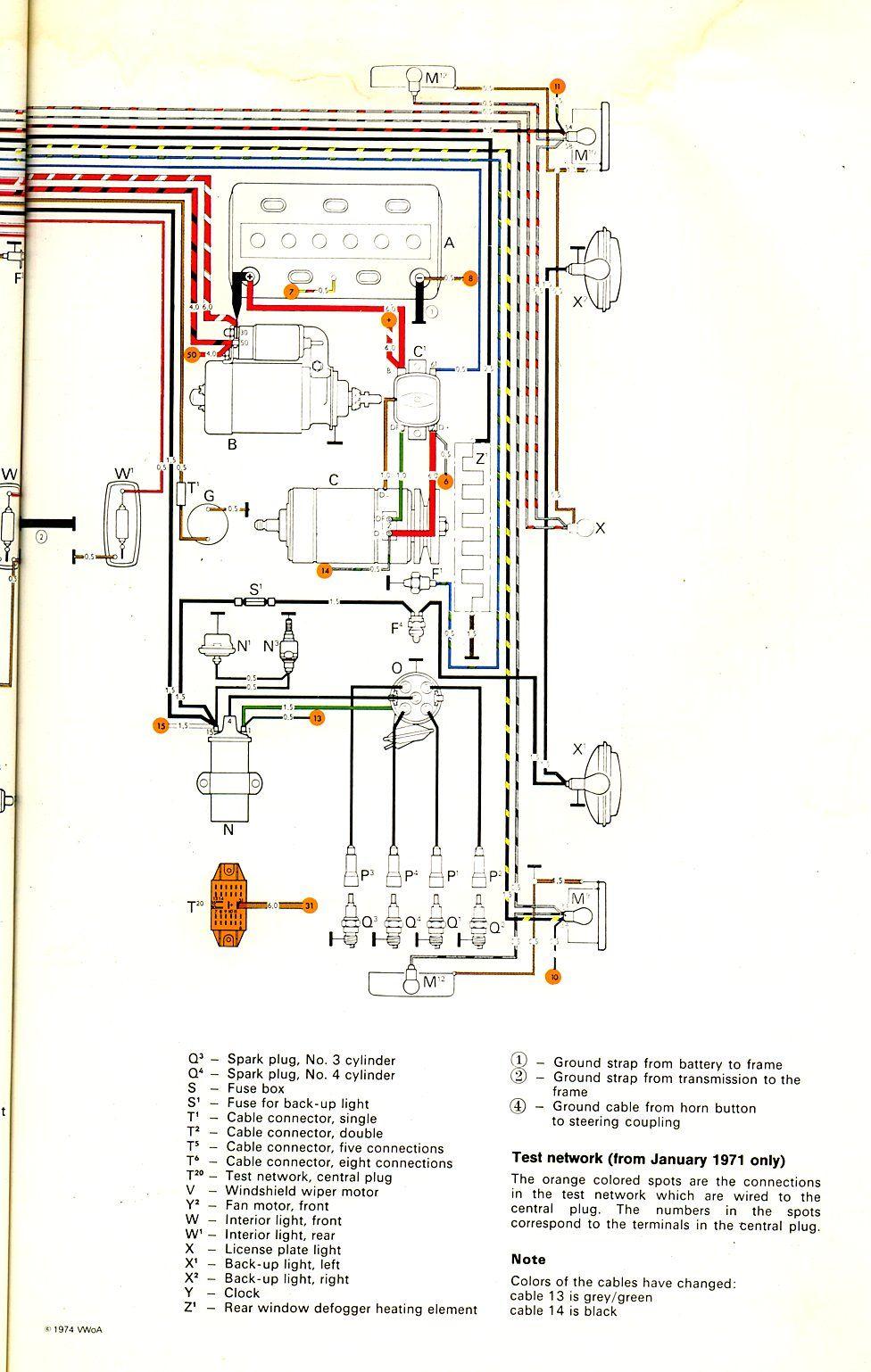 1971 Bus Wiring Diagram Thegoldenbug Com Electrical Wiring Diagram Diagram Bus
