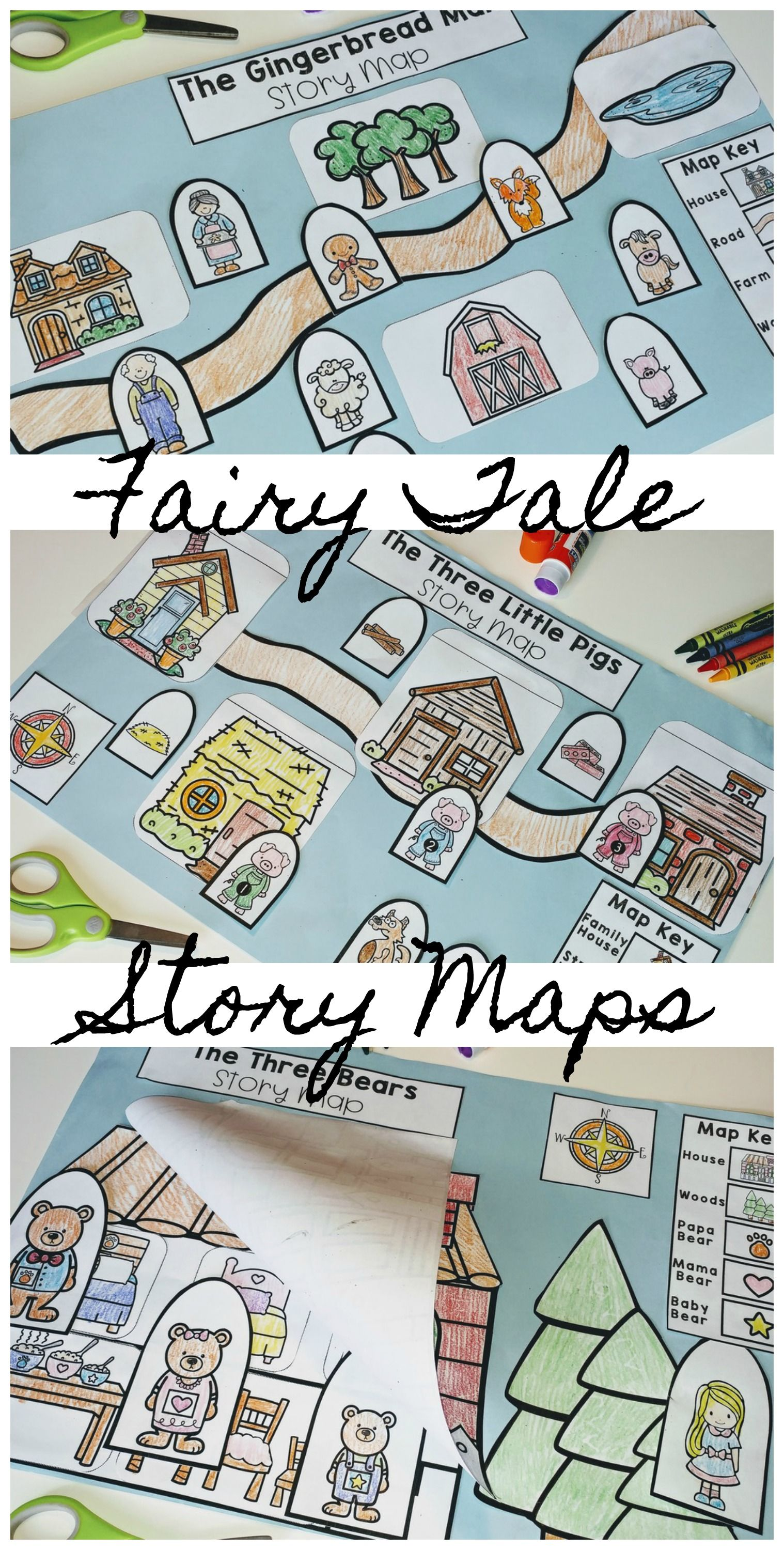 Fairy Tale Unit Story Maps In