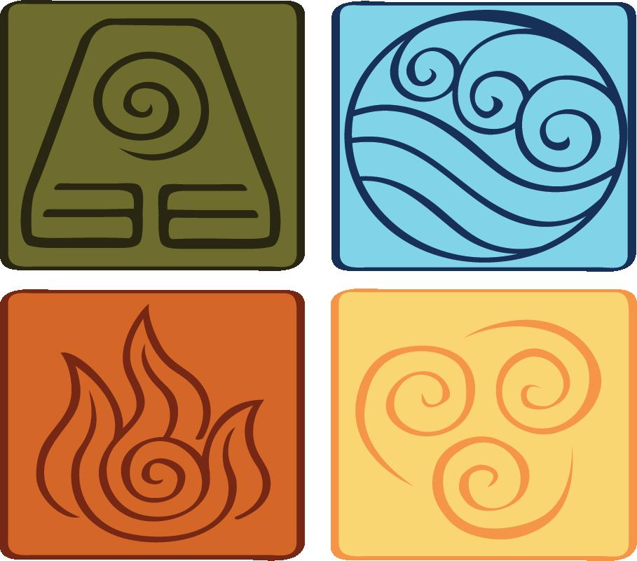 Avatar The Last Airbender Symbols By Jriiann On Deviantart In 2020 Element Symbols Earth Element Symbol Avatar Tattoo