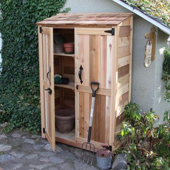 4 X 2 Cedar Garden Storage Shed Garden Tool Shed Outdoor Sheds Backyard Storage