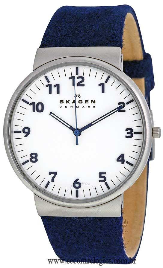 Relógio Skagen Masculino Casual SKW6098 Z Linha de relógio masculino casual  com pulseira de couro Características do Relógio  Relógio masculino modelo  Slim ... 726196bd17