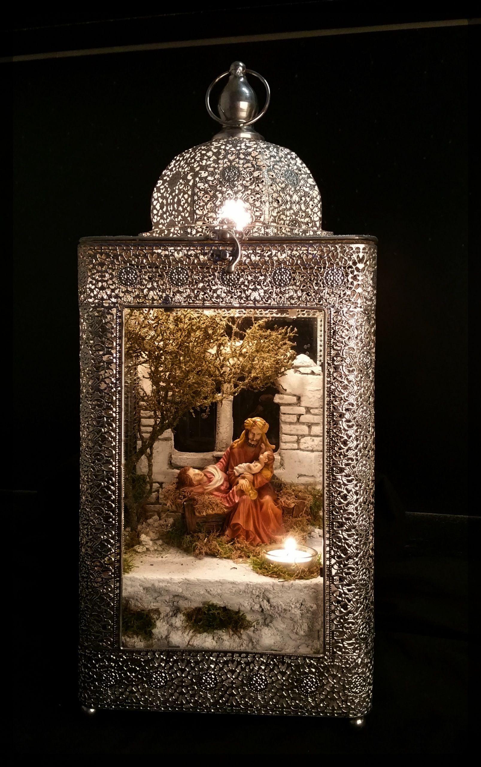 krippenlaterne orientalisch in silber nativity krippen pinterest weihnachtsdekoration. Black Bedroom Furniture Sets. Home Design Ideas
