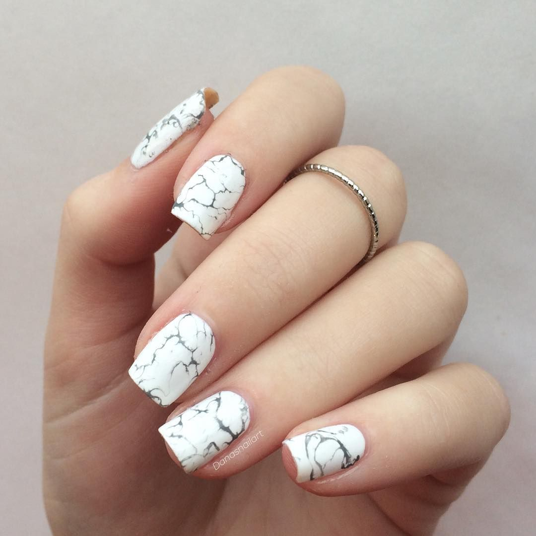 Marmor Nägel ⚪ ⬛ "