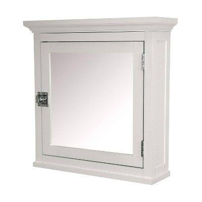 Madison Avenue Wall Cabinet 1 Door White Elegant Home Fashions Adjustable Shelving House Styles Elegant Homes