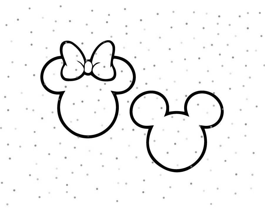 Mickey Mouse And Minnie Mouse Outline Svg Instant Download Etsy In 2020 Mickey Mouse Drawings Disney Tattoos Mickey Mickey Tattoo