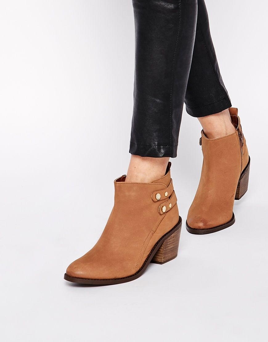 Oasis Ida Tan Block Heel Ankle Boots | Block heels, Tans and Ankle ...