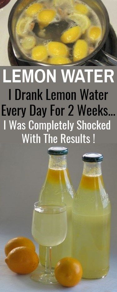 LEMON WATER: I Drank Lemon Water  Every Day For 2 Weeks…I Was Completely Shocked  With The Results !...