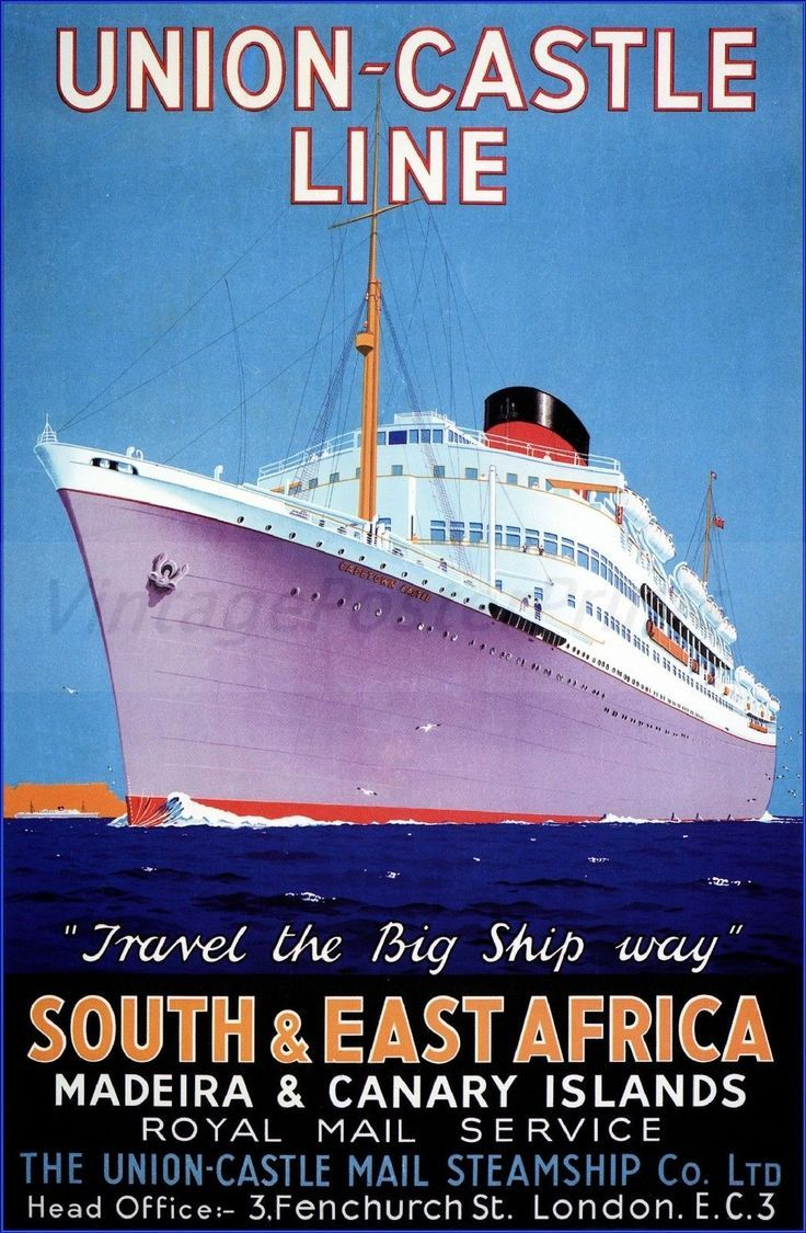 Image result for English Steamship travel posters 1957