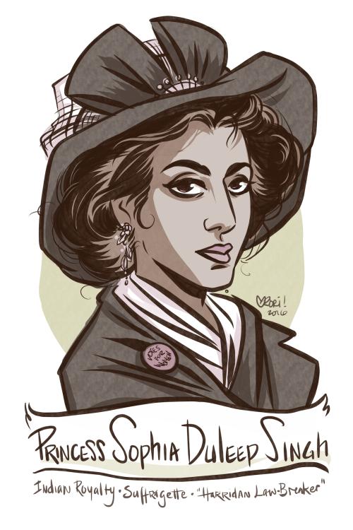 #100days100women Day 31: Sophia Duleep Singh: Indian royalty, Queen Victoria's goddaughter, suffragette and hell-raiser: https://en.wikipedia.org/wiki/Sophia_Duleep_Singh …