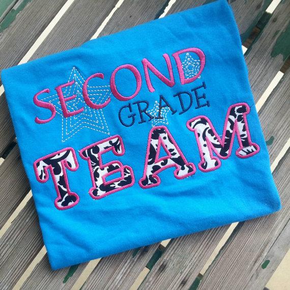 Teacher Team Shirt Second Grade Team Shirt by trendyembroidery