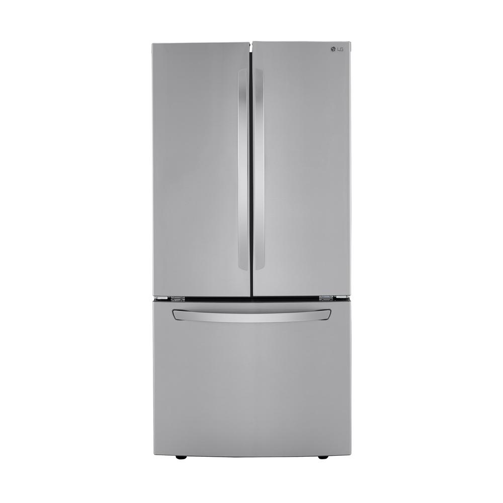 Lg Electronics 33 In W 25 Cu Ft French Door Refrigerator In Printproof Stainless Steel Lrfcs2503s In 2020 French Door Refrigerator French Doors Refrigerator