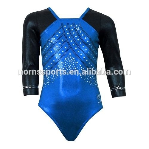 4d4821866b35 Wholesale Long Sleeves Girls Artistic Gymnastics Leotards Children  Rhinestone Leotards