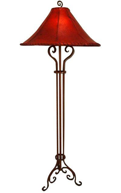 Hand Forged Wrought Iron Floor Lamp With Triple Post Wrought