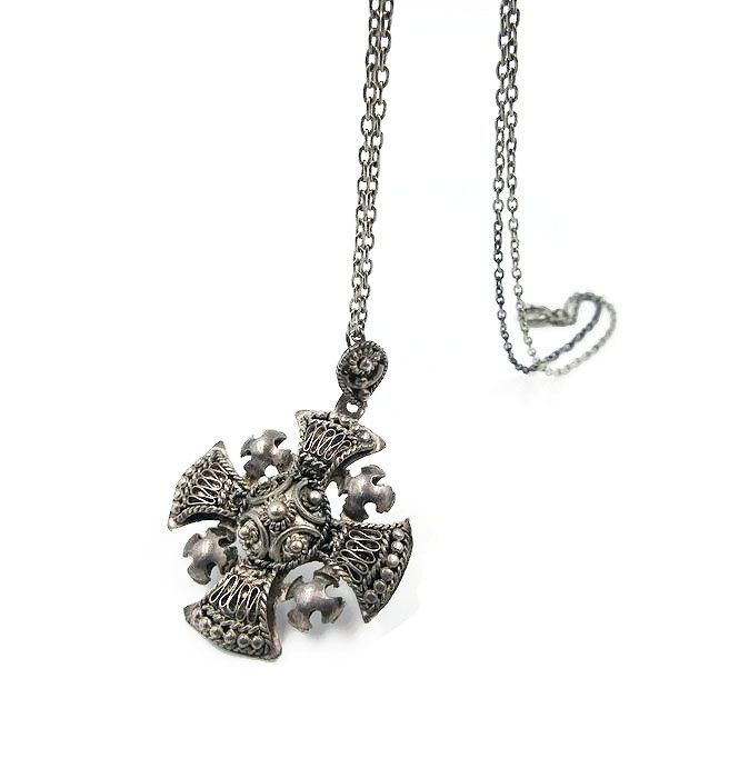 Vintage jerusalem silver maltese cross pendant necklace 950 silver vintage jerusalem silver maltese cross pendant necklace 950 silver israel jewelry vintage cross aloadofball Images