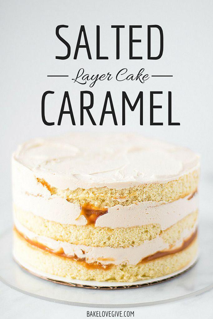 Cake Salted Filling Caramel