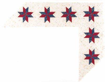 Eight-Pointed Star Quilt Border Pattern | Quilt border ...