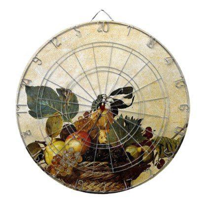 Caravaggio Basket Of Fruit Classic Artwork Dart Board Antique