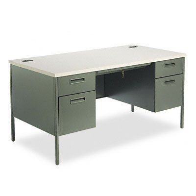Hon Metro Classic Series Double Pedestal Desk Desk Dbleped 60x30 Ccl Gy Pack Of2 By Hon 699 45 D With Images Double Pedestal Desk Pedestal Desk Best Home Office Desk