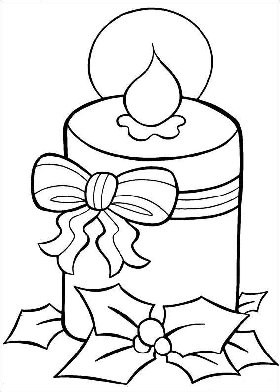 Vela De Navidad Dibujos De Navidad Dibujo Navidad Para Colorear Manualidades Navidenas
