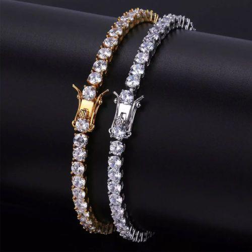 341a37900364e2 Luxury Iced Out Round Cut Tennis Bracelets Hip Hop Lab Diamond Men Women  Bling