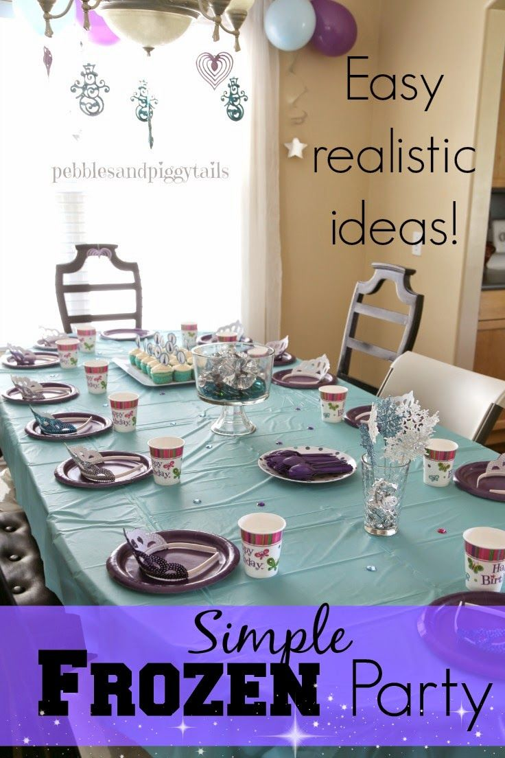 Simple FROZEN Birthday Party Ideas Disney frozen Party games and