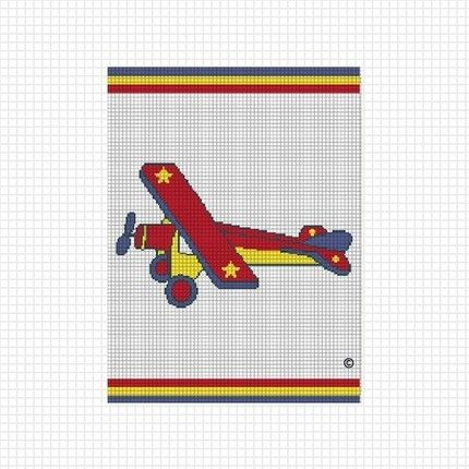 Cozyconcepts toy airplane afghan crochet pattern graphs ...