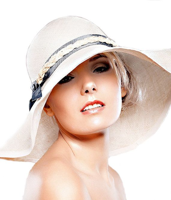 d71e53c9a3a Large Brim Sun Straw Hat   Summer Beach 70 s   City Chic   New Can Be Made  in Any Size  Weddings Party. £69.00