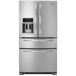 Kitchenaid Kfxs25ryms Stainless Steel 25 Cu Ft Refrigerator With Images French Door Refrigerator Stainless Steel French Door Refrigerator Kitchenaid Architect Series