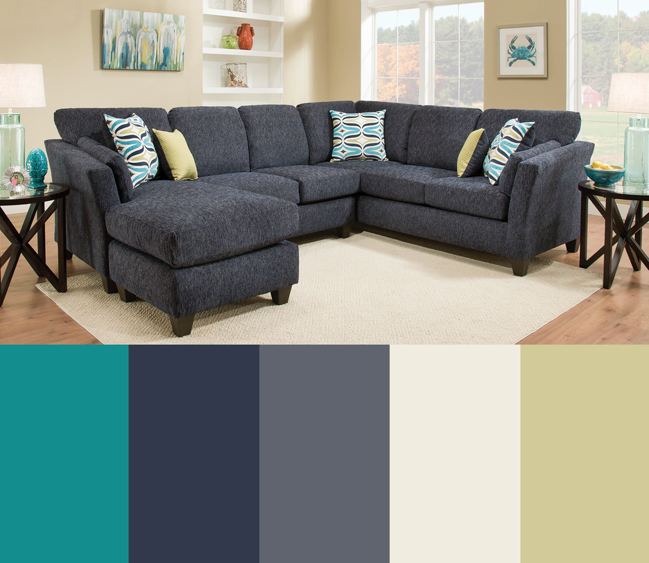 Best Teal Turquoise Indigo Blue Lime Gray Living Room 400 x 300