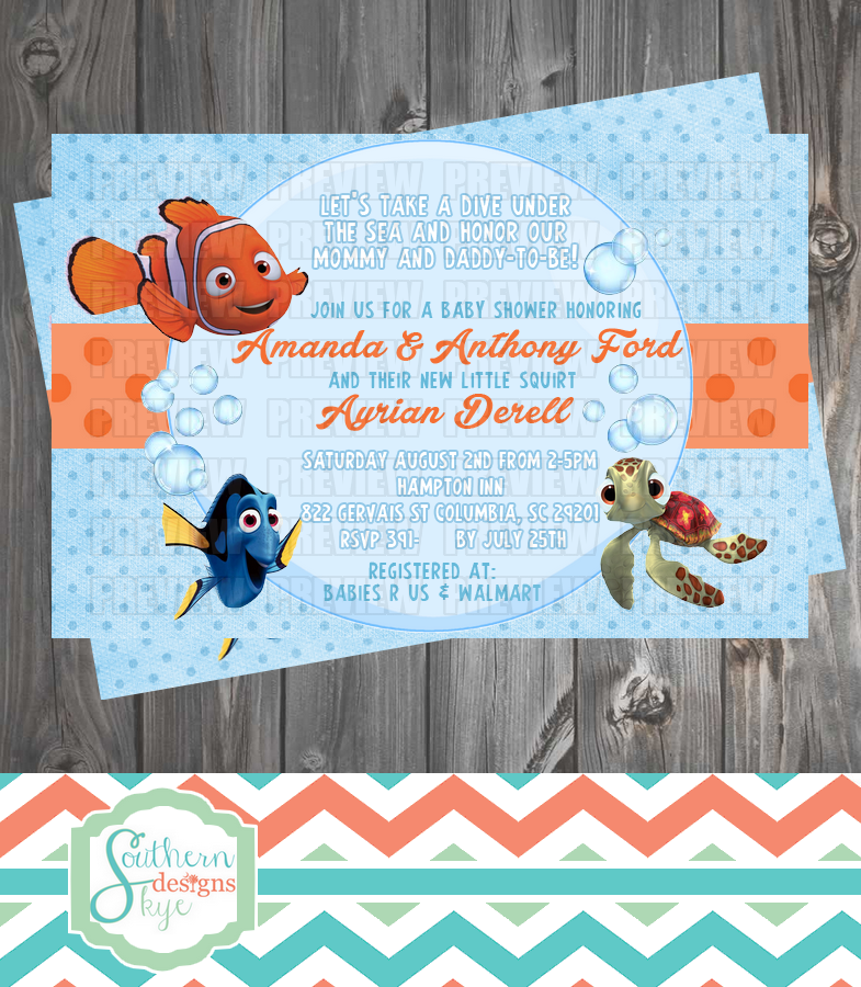 Finding Nemo Baby Shower Invitation and 50 similar items | baby ...
