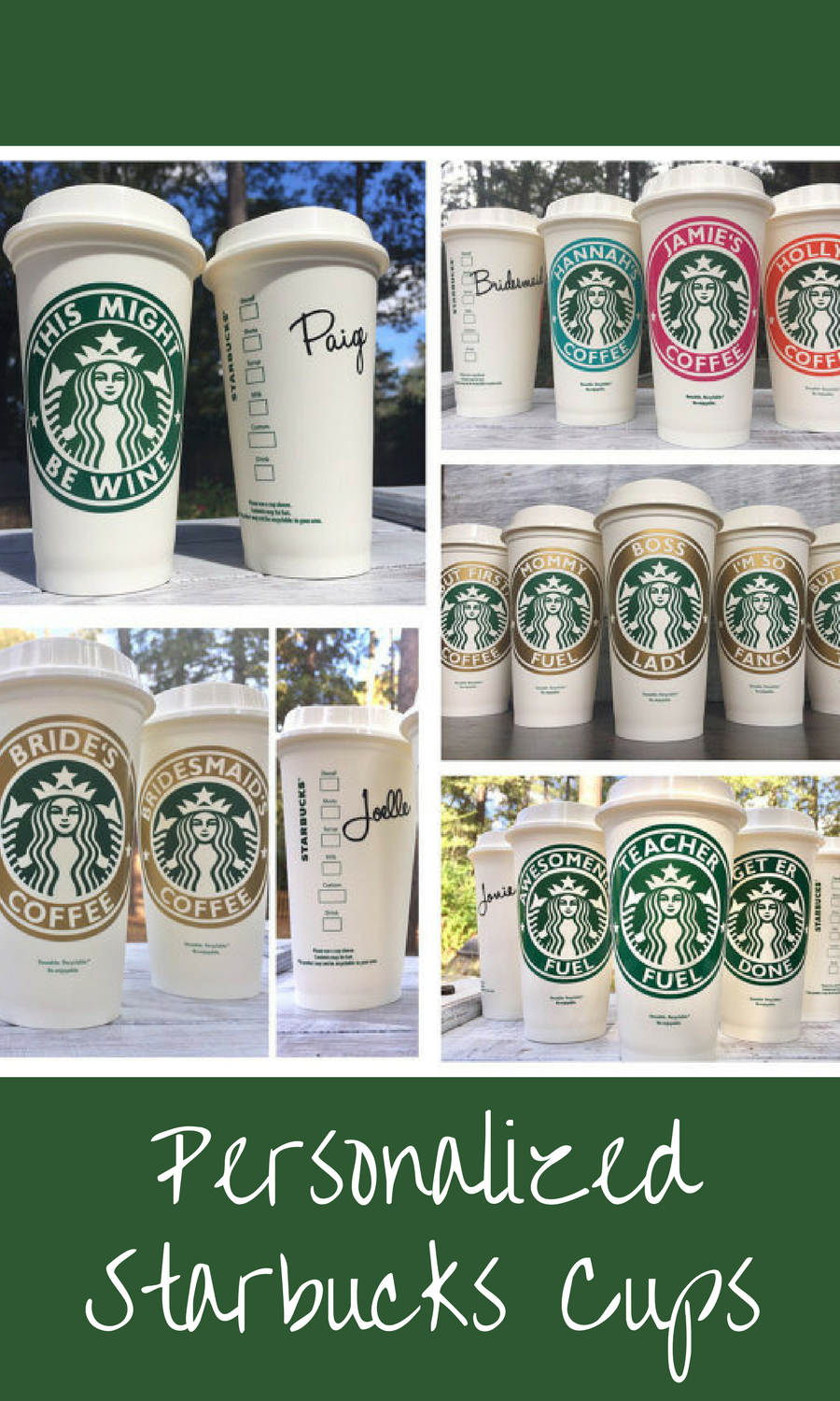 Starbucks Cup, Starbucks Personalized Coffee Cup, Reusable