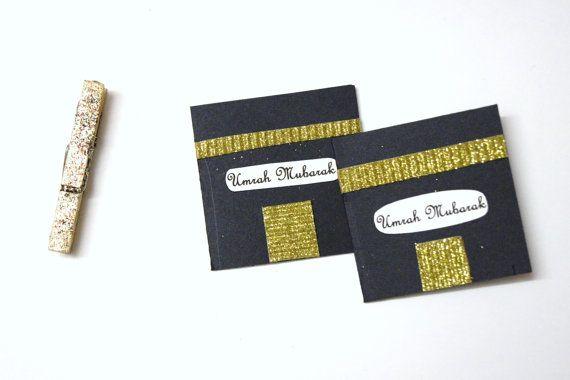 Black And Gold Umrah Cards Hajj Mubarak Umra By Hafsacreates