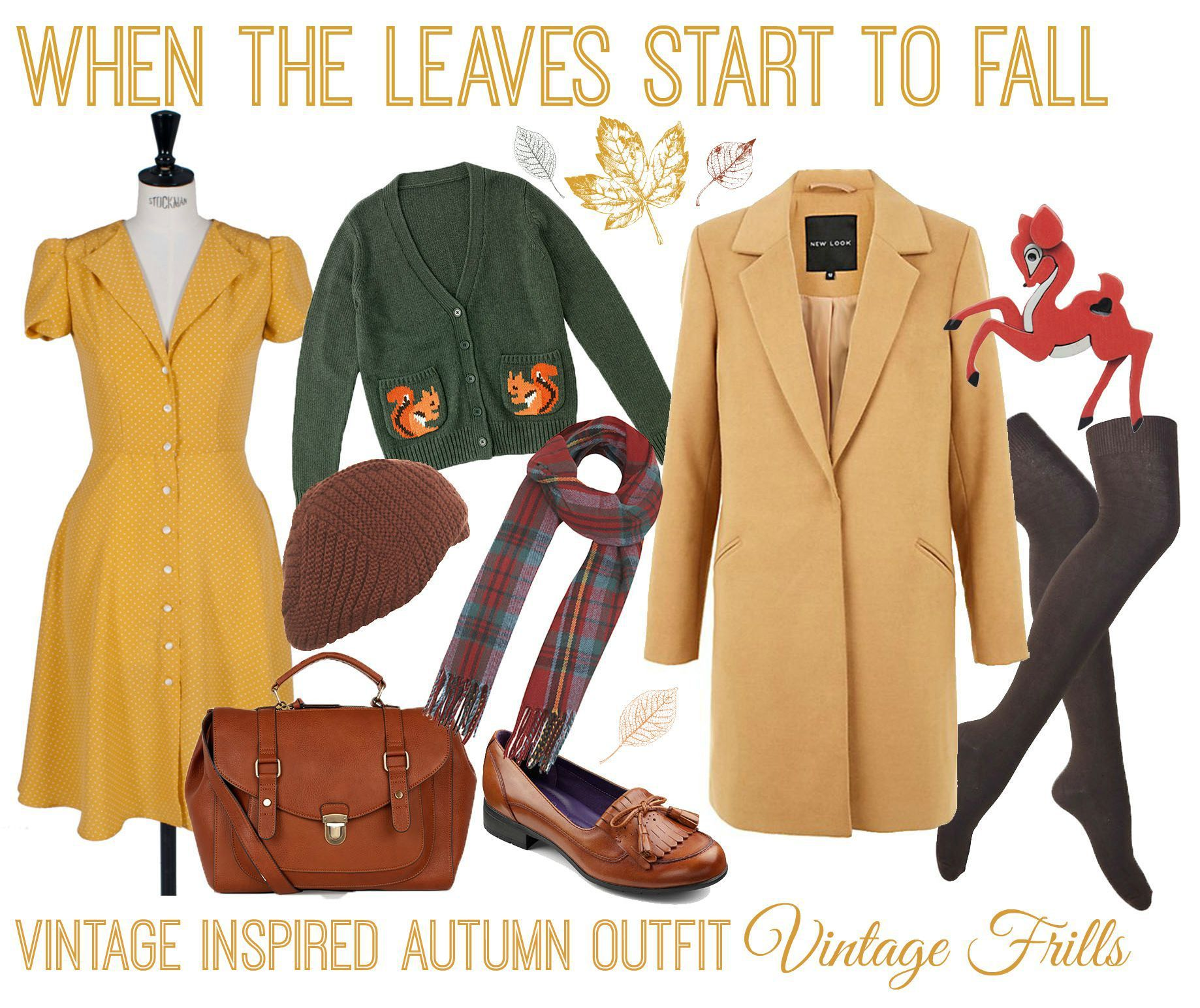 When the Leaves Start to Fall  Autumn Outfit Ideas | Vintage Frills