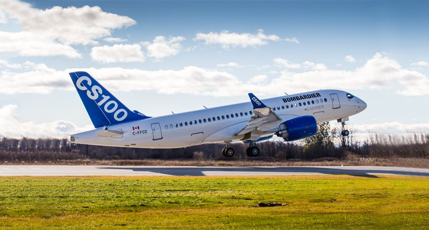 Bombardier cs100 gets steep approach certifications