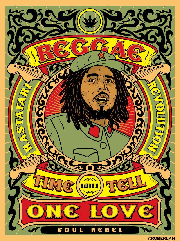 rasta reggae_rastafari_revolution_by_roberlan