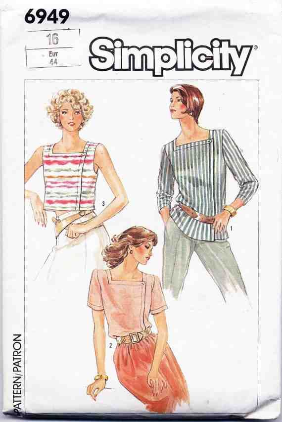 Simplicity Sewing Pattern 6949 Misses Easy-to-Sew Top in Three Lengths  Size 16