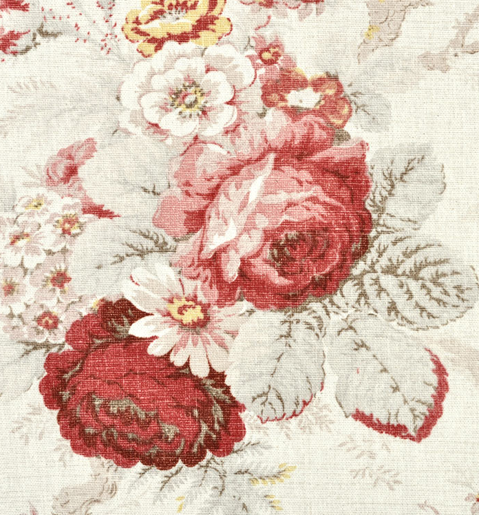 Waverly Norfolk Rose Fabric Floral Drapery Fabric Floral Drapery Chintz Fabric
