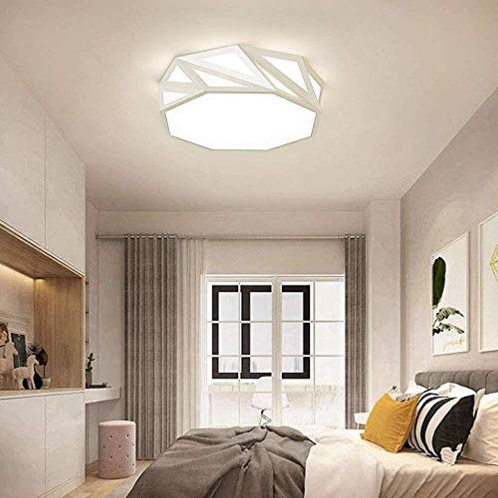 Led Einfache Deckenleuchte 24w Dimmbare Polygon Dreidimensional Designer Deckenlampe Mit Fernbedienung Deckenlampe Mi Deckenlampe Lampenschirm Innenbeleuchtung