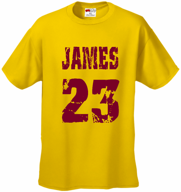 James 23 Lebron James Cleveland Kid's T-Shirt