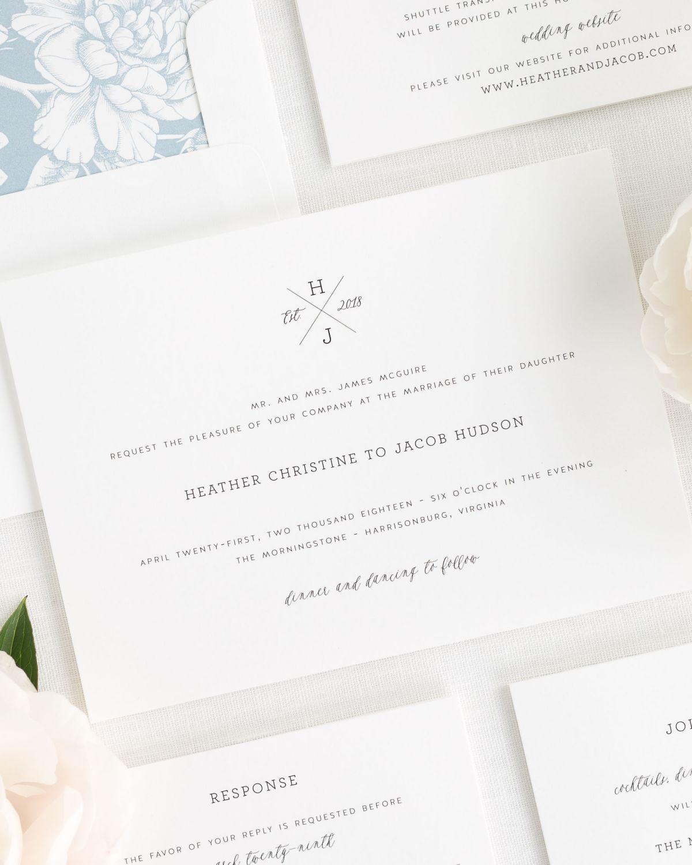 Cross Monogram Wedding Invitations | Invitation ideas and Wedding